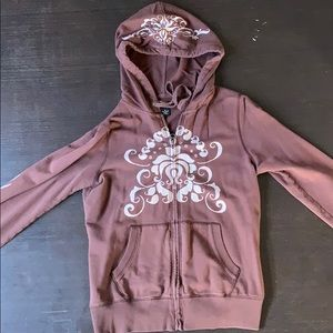 Brown, Lucky Brand zip up